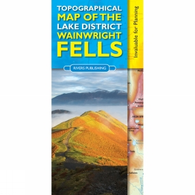 Rivers Publishing Rivers Publishing Topographical Map of the Lake District Wainwright Fells 1st Edition, 2014
