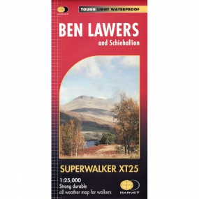 Harvey Maps Ben Lawers & Schiehallion Map 1:25K