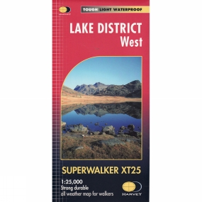 Harvey Maps Lake District West Superwalker Map 1:25K
