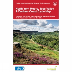 Sustrans Sustrans North York Moors, Tees Valley and Durham Coast Cycle Map 1st Edition, 2014