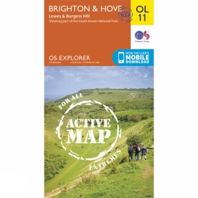 Active Explorer Map OL11 Brighton and Hove
