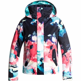 Roxy Roxy Jetty Girls Jacket Neon Grapefruit Cloud Nine
