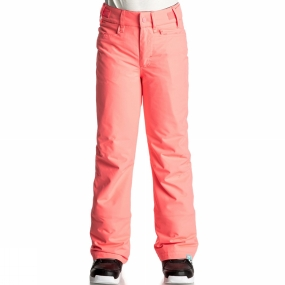 Roxy Roxy Girls Backyard Pants Age 14+ Neon Grapefruit