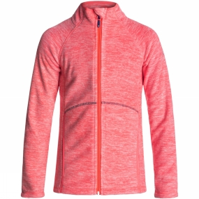 Roxy Roxy Girl's Harmony Fleece Neon Grapefruit