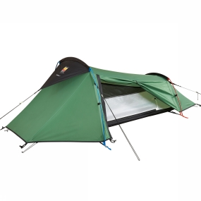 Wild Country Tents The Coshee 1 Tent is ideal for backpackers looking for a great value, reliable tent for solo use. Its two-pole tunnel design means it is quick and easy to pitch. The inner comes attached to the flysheet allowing the tent to be erected as one. Its low, sloping wind-cheating shape offers good weather protection for three-season use and the full-length door offers a huge amount of porch space. It uses Superflex alloy poles which offer superb reliability and strength whilst remaining lightweight. The tried and tested Wild Country, high performance flysheet and groundsheet fabrics provide excellent protection from the elements. The small pack size and low weight make this tent easy to carry.