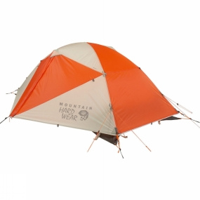 Mountain Hardwear The ingenious Trident Corner pole design of the Tangent 2 gives it the strength of an expedition tent,  while the weight is more what you