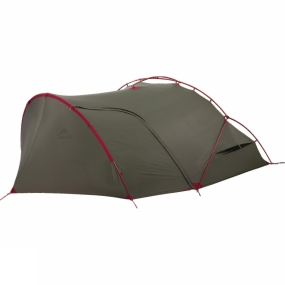 MSR The Hubba Tour 2 Tent from MSR is a unique tent that offers excellent protection for multi-day hikers and cycle tourers. It features a small pack size and minimal weight without sacrificing those all important features. Thanks to the main section of the tent having an Exo-skeleton, it is easy to erect quickly, even in difficult weather conditions. The large vestibule area also features a single pole that can be threaded easily to ensure you have shelter within minutes. This area also has an integrated ground sheet that covers the majority of the floor, only leaving the entrance bare to allow for space to store muddy boots without getting the tent too dirty.The inner tent is attached to the outer for easy pitching that helps to keep it dry in wet conditions. It is spacious and features gear loft storage as well as pockets to help you keep everything you need handy and organised. Adjustable ventilation at each end of the inner tent allows great air flow regardless of cold and wet or warm and dry weather conditions.
