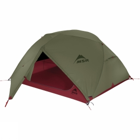 MSR The Elixir 3 Tent from MSR is a freestanding backpacking tent that provides an excellent combination of ventilation, warmth and privacy in a lightweight package. The geometric design of the poles helps to maximise head space in the living area for better comfort on trips that involve more than just one night. Highly versatile this tent can be used with just the footprint and flysheet for fast and light trips or as a whole with the inner. When using with the inner, the flysheet can be reclined to offer better ventilation and a better view without losing out on privacy thanks to the thoughfully positioned mesh panels. Two large StayDry doors at each side of the tent feature Rain Drains to reduce the chance of you getting wet on the way in and way out of the tent while the two large vestibules are great for stowing kit.