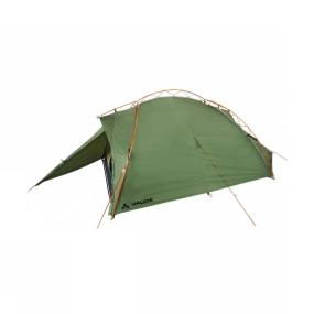 Vaude The Terraquattro 3P Tent from Vaude is a sturdy little tent that is the perfect solution for three person forays into the great outdoors. The super easy and secure pole configuration provides easy-pitching and excellent stability, while offering excellent interior space for three.The external pole configuration on this tent makes it super easy and quick to erect, simply pop the anchors in at the ends of the poles and then wrap the elastic cord over the pole and hook it on the other side.The two porch vestibules offer generous storage space when you are all tucked in for the night but the doors can be completely opened up or rolled back in half so you can enjoy the view you have chosen should you wish. The inner has storage pouches to help keep you organised and mesh door panels offer excellent ventilation while keeping bugs and wind debris on the outside of the tent.