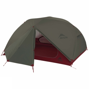 MSR The Elixir 3 Backpacking Tent 2018 from MSR is a 3-person backpacking tent that offers enough space for you and your gear within a quick and simple design. The tent is easy to set up thanks to the colour coded poles and the inner canopy clips onto the poles. With 2 larger front entry ways and vestibules, you can keep all your gear out of the weather and still get easy access into the tent. The design of the tent combines a strong flysheet with breathable mesh to offer a combination of ventilation and protection. Inside the tent there are 2 gear lofts for you to keep all your essentials close to hand and up off the floor of the tent. The included footprint helps protect the base of the tent helping to prolong its life.