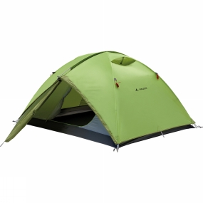 Vaude A roomy three-season trekking and camping tent for three-to-four people. The Campo Grande 3-4P Tent offers a large entrance, comfortable height, ridge ventilation and is very quick and easy to pitch and take down.The dome design is inherently strong, stable and easy to setup. It also means the structure can stand up before it is pegged down.