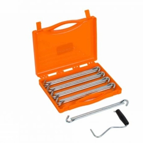 Vango Anchor Steel Peg Set 23cm x 20 Peg extractor storage case