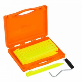 Vango Bolt Plastic Peg Set 22cm x 12 Peg Extractor storage case