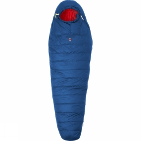 Fjallraven Lightweight, convenient down sleeping bag that is very warm and can be compressed to a very small volume. Perfect for use in the spring and summer with a comfort temperature (men) of +2�C (women +7�C ). Padded with high quality down that has been distributed for optimal insulation, with extra down on top and in the sections covering the body