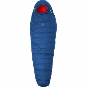 Fjallraven A lightweight, convenient down sleeping bag that is very warm and can be compressed to a very small volume. Shorter in length and cut slightly wider around the hips, it is adapted to the body shape of a woman. The Singi Two Seasons Sleeping Bag is perfect for use in the spring and summer. Padded with high quality down that has been distributed for optimal insulation, with extra down on top and in the sections covering the body