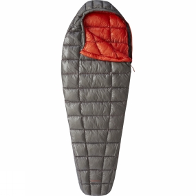 Mountain Hardwear The Ghost Whisperer Sleeping Bag Long from Mountain Hardwear shares the same unbelievably light yet full featured approach as the best-selling jackets of the same name. Every gram is accounted for from the premium 900-fill Q.Shield down to the 7x10D ripstop fabric to deliver an ultralight mountaineering and backpacking sleeping bag with an outstanding warmth to weight ratio and remarkable compressibility.