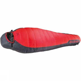 Salewa The Eco -7�C Sleeping Bag from Salewa is a recycled down sleeping bag designed for mountaineering, hiking and trekking with sustainable natural insulation technology. Recommended for environmentally conscious users, it matches sustainability with the advantages of natural down. Its 80/20 recycled down fill from used sleeping bags has a high warm-to-weight ratio and a fill power of 500 cuin which makes it well suited to temperatures down to -7�C.The recycled down is silverised to make it odour-resistant, so even on long treks it requires less frequent washing.It has a full-length, two-way zip with anti-catch flap so it can be coupled with another compatible bag, or opened up wide like a blanket. It has a contoured hood, preshaped thermo collar and foot section and a zip at the foot section for comfort. All draw strings are easy to operate with one hand, and it