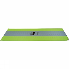 Wild Country Tents The Matterhorn Standard Sleeping Mat is self-inflating and offers good-quality insulation from the ground. A silicone print prevents the mat slipping and an extra wide valve ensures quick inflation. Cut outs in the foam help to reduce pack size and weight.