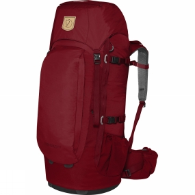 Fjallraven Simplified, light backpack for trekkers, backcountry skiers and travellers who like to move about without too much weight. The back panel provides air circulation and the hipbelt gives great support. As in earlier models, the length of the back is adjustable and the shoulder straps and hipbelt are designed for a woman