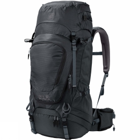 Jack Wolfskin Heading out for a few days of backcountry hiking? If your way of unwinding is by going on multi-day hikes, then the Highland Trail Xt 50 Rucksack from Jack Wolfskin is the one for you. It has all the space you need for a few days in the wilderness. With the X-Transition suspension system you can carry all your gear in comfort. The good back ventilation and optimised load transfer performance take care of that. Simply put the pack on, adjust the straps and you