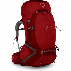 Osprey Mens Atmos AG 65 Rucksack Rigby Red