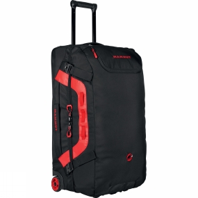 Mammut The 90-liter-capacity Cargo Trolley 90 Travel Bag offers plenty of space for all your equipment; a separate, ventilated compartment for mountain boots and many other options for organizing the equipment. A stable telescopic handle and high-quality rubber wheels make this trolley a robust and reliable partner on travels around the globe.