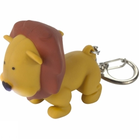 regatta-animal-keyring-torch-lion-tan
