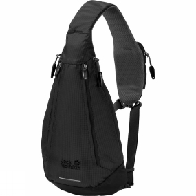 Jack Wolfskin If every day sees you heading off in a different direction-round the block, across the city or down along the river-the Delta Shoulder Bag from Jack Wolfskin is the bag for you. This sling bag is bang on trend and can be carried on either shoulder. And because it has zips on both sides, you can access the contents whichever way you carry it. There is a little pocket on the shoulder strap for your smartphone so it