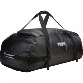 Thule With a wide mouth opening and removable backpack straps the Chasm 130L Duffel Bag is a practical as well as rugged and weather resistant gear hauler for any adventure.Further details:Easy access to contents through oversized, wide mouth openingCan be carried in two different ways: as a backpack and as a duffel (all straps tuck away when not in use)Protects contents from the elements and folds for easy storage due to the durable and waterproof tarpaulin fabricKeeps gear organized and contained with internal mesh pocketsEasy to prevent contents from falling to the bottom of the bag in backpack mode thanks to external compression strapsPadded bottom protects your gear from the groundLockable, zipped side pocket keeps small items secure and within reach (lock sold separately)Quick access to smaller items through external stash pocket