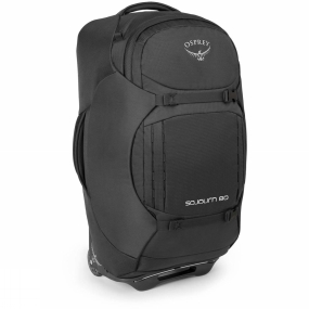 Osprey Cover the globe with a pack that you can roll with ease or carry like a backpack. Featuring a trampoline suspended mesh backsystem, the Sojourn offers maximum levels of comfort and ventilation. Complete with a zip away, torso-adjustable harness and hipbelt, this travelpack offers a superior carrying platform for your global adventures.Your wheeled travel requirement is covered with the durable and unique injection molded HighRoad chassis, consisting of an ABS polymer plastic for durability and using polyurethane wheels. Sealed bearings in the wheels, coupled with good ground clearance allow a smooth rolling motion on almost any surface. The double-bar, retractable ErgoGrip handle ensures that wherever you go, your bag will follow. Inside the bag you will discover a multitude of organization options; including a liquid/accessory pocket that is compatible with the Osprey Wash Bag Cassette (sold separately) and dual mesh pockets to separate dirty clothes and shoes. The internal compression straps allow you to fully maximise capacity whilst securing your clothes and limiting creases. For the ultimate in gear protection, the Sojourn spreads its foam StraightJacket side-wings around the bag to compress, stabilize and protect your belongings. These wings cleverly wrap from one side of the bag to the other when you