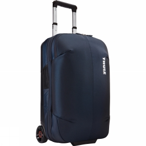 Thule The Subterra Carry-On 55cm is a sleek and durable two-wheel carry-on complete with a compression panel to maximize packing space and minimize wrinkling.Further details:Easy to pack more, separate clean from dirty or keep clothes in place thanks to the internal compression panelSmooth and easy transport with tough, oversized wheels and V-Tubing telescoping handlesEffortless travel thanks to the piggyback strap attachment loop that allows an additional bag to be hooked onBag design absorbs the impact of travel due to the durable exoskeleton and molded polycarbonate back panelSmooth lifting and rearranging in overhead bins with top, side and bottom grab handlesComplies with carry-on requirements for most airlinesDivided main compartment keeps clean-from-dirty, wet-from-dry, and work-from-playProtects contents from the elements with durable, water-resistant materialsQuick access to keys, wallet and smaller items through zipped mesh pocketBuilt in ID card slot simplifies identification of bag