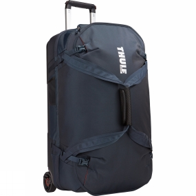 Thule TheThule Subterra Luggage 70cm is a spacious rolling duffel with wide-mouth access and divided main compartment to easily pack and organize your travel essentials.Further details:Easy to pack and stay organized with spacious interior that divides into two separate compartmentsSmooth and easy transport with tough, oversized wheels and V-Tubing telescoping handlesEffortless travel thanks to the piggyback strap attachment loop that allows an additional bag to be hooked onBag design absorbs the impact of travel due to the durable exoskeleton and molded polycarbonate back panelSmooth lifting and rearranging with top, side and bottom grab handlesProtects contents from the elements with durable, water-resistant materialsKeep belongings in place throughout travel due to external compression strapsQuick access to keys, wallet and smaller items with zipped pocketBuilt in ID card slot simplifies identification of bag