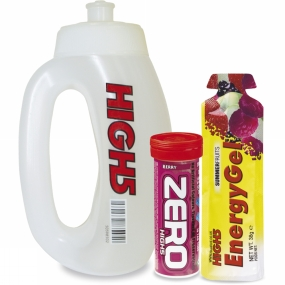 High 5 Run Bottle Zero 10 Hydration & Energy Gel Berry No Colour
