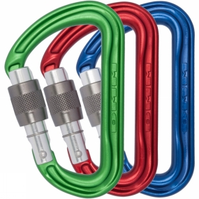 DMM Shadow Keylock Screwgate Pack of 3 Colour Karabiners