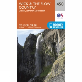 Ordnance Survey Explorer Map 450 Wick and The Flow Country V15