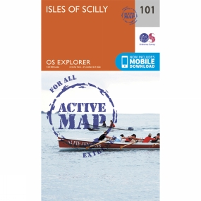 Ordnance Survey Active Explorer Map 101 Isles of Scilly