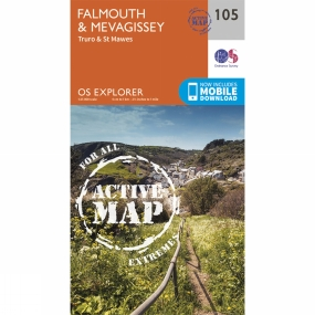 Ordnance Survey Active Explorer Map 105 Falmouth and Mevagissey