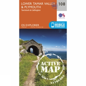 Ordnance Survey Active Explorer Map 108 Lower Tamar Valley and Plymouth