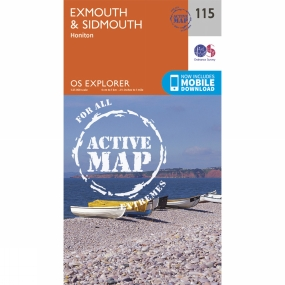 Ordnance Survey Active Explorer Map 115 Exmouth and Sidmouth