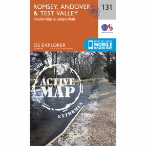 Ordnance Survey Active Explorer Map 131 Romsey, Andover and Test Valley