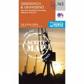 Ordnance Survey Active Explorer Map 162 Greenwich and Gravesend