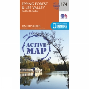 Ordnance Survey Active Explorer Map 174 Epping Forest and Lee Valley