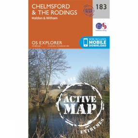 Ordnance Survey Active Explorer Map 183 Chelmsford and The Rodings
