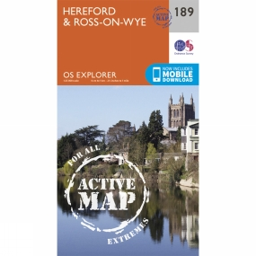Ordnance Survey Active Explorer Map 189 Hereford and Ross-on-Wye