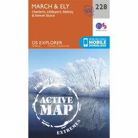 Ordnance Survey Active Explorer Map 228 March and Ely