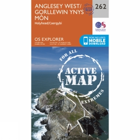 Ordnance Survey Active Explorer Map 262 Anglesey West