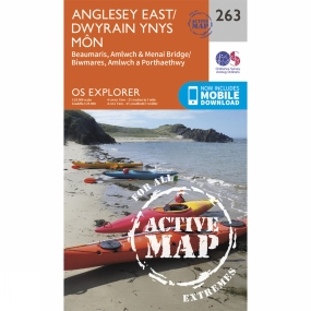 Ordnance Survey Active Explorer Map 263 Anglesey East