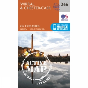 Ordnance Survey Active Explorer Map 266 Wirral and Chester