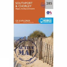Ordnance Survey Active Explorer Map 285 Southport and Chorley