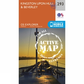 Ordnance Survey Active Explorer Map 293 Kingston upon Hull and Beverley